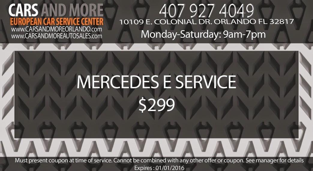 MERCEDES E SERVICE $299