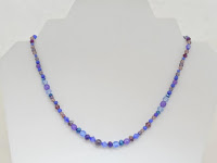 "Colors of Deilight - Blue & Purple cryatals and Glass beads  16""  $23"