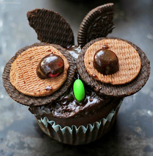 oreo owl cupcakes for halloween recipe
