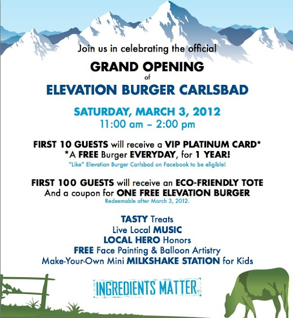 Carlsbad Event: Elevation Burger Official Grand Opening