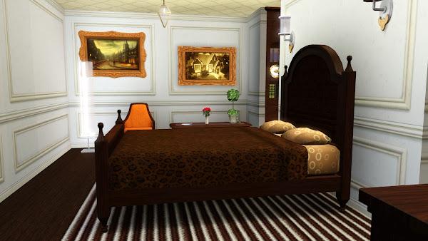 Небоскреб Симс 3: квартира Оранжевое настроение