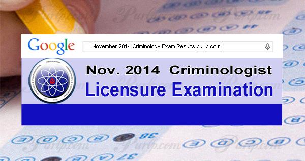 November 2014 Criminology Exam Results, List of Passers