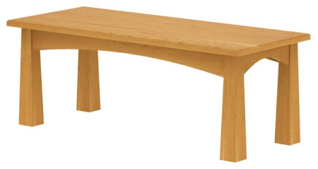 Shaker Coffee Table Shown in Natural Cherry