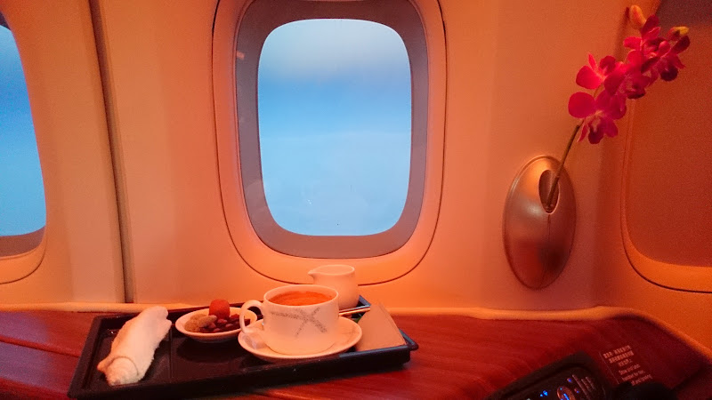 DSC 2952 - REVIEW - Cathay Pacific : First Class - Hong Kong to Tokyo (B747)