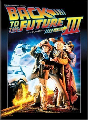 Poster Of Back to the Future III (1990) Full Movie Hindi Dubbed Free Download Watch Online At Alldownloads4u.Com