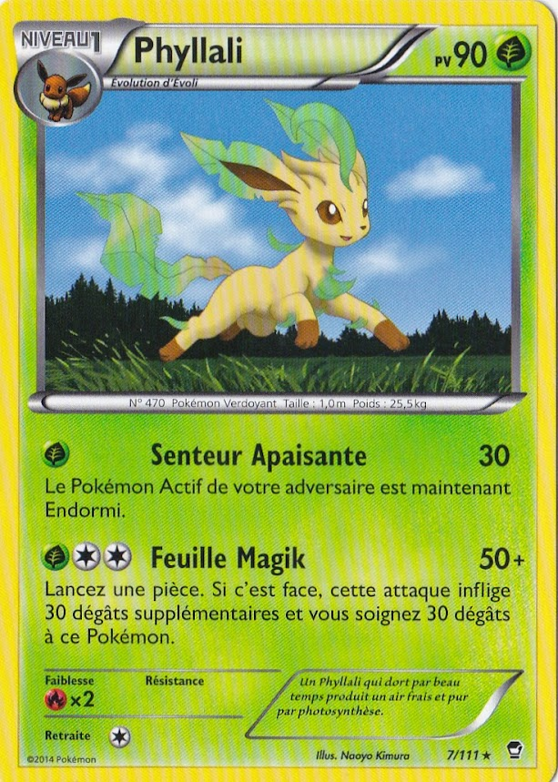 Phyllali Carte Pokemon Neuve Française 7//111 XY03:Poings Furieux