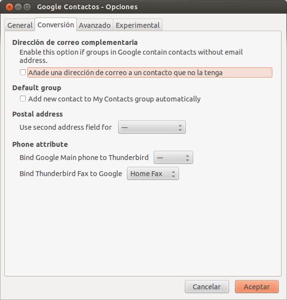 Thunderbird y Google Contacts - El atareao