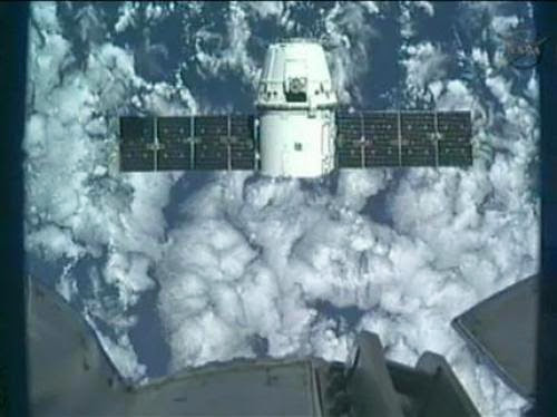 Private Dragon Capsule Docks At International Space Station On Friday In A First