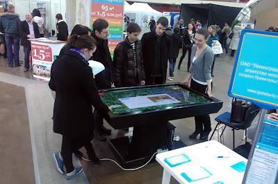 интерактивный стол ascreen на выставке