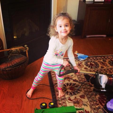 my daughter vacuuming