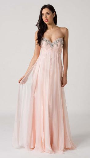 Abendkleider ohne Ärmel - schulterfreie abendkleider - schulter freies kleid - abendkleider lang