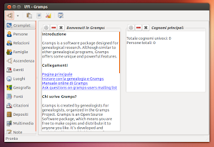 Gramps su Ubuntu 13.04 Raring