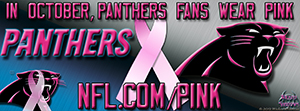 Panthers Breast Cancer Awareness Pink Facebook Cover Photo