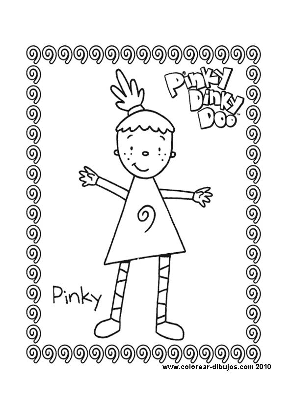 coloring pages pinky dinky doo - photo#24