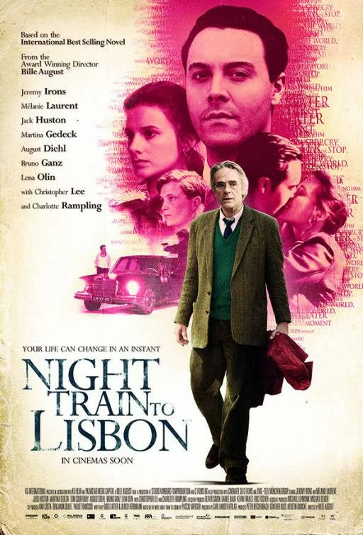 Poster Of English Movie Night Train to Lisbon (2013) Free Download Full New Hollywood Movie Watch Online At Alldownloads4u.Com