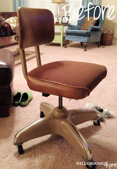 how to recover an old office chair 2