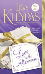 Book cover of Love in the Afternoon by Lisa Kleypas (Hathaways series #5)