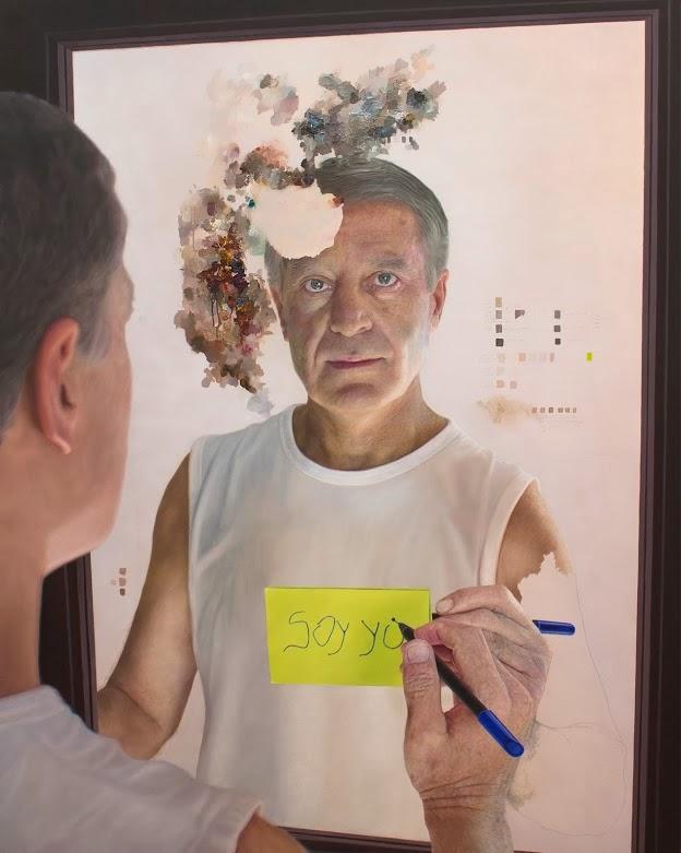 Pintura La paleta del olvido en técnica mixta de Cortés Antequera