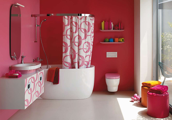 Ideas Para Decorar Un Baño Juvenil:Pink Bathroom Ideas