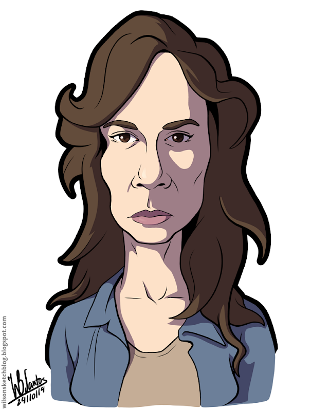 Cartoon caricature of Sarah Wayne Callies as Lori Grimes from The Walking Dead.