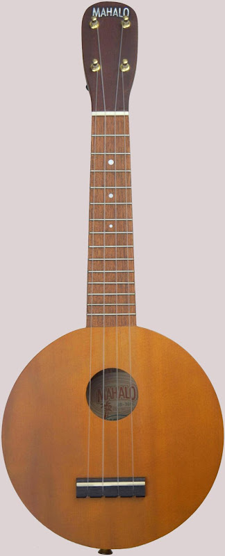 Mahalo art series one red cedar roundbody plain Ukulele