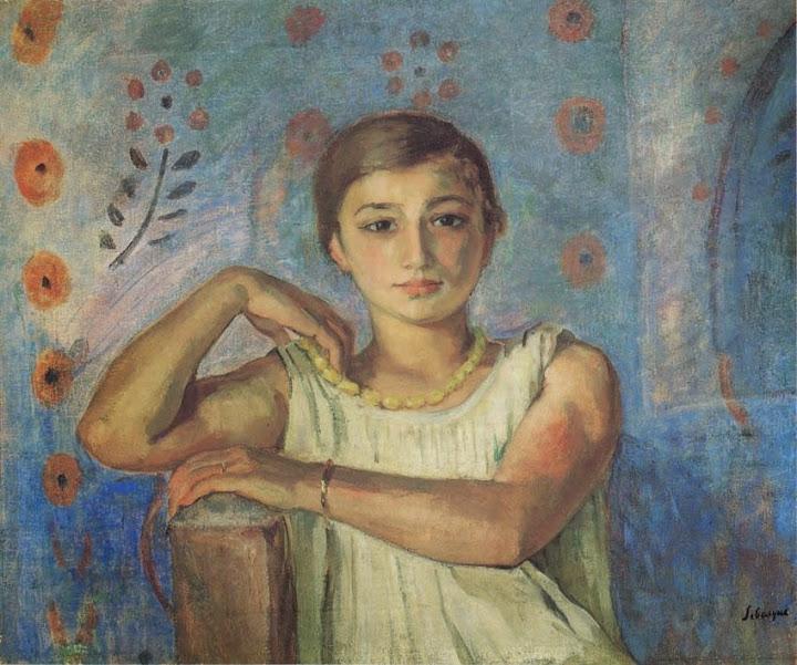 Henri Lebasque - Nono in a yellow necklace-1912