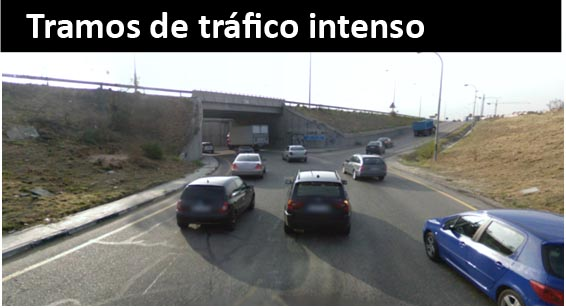 Tramos de tráfico denso
