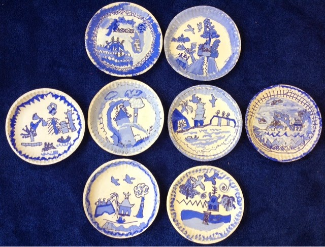 Blue Willow 6 Pack Dinner Plates Cm England Hopler & The Willow Pattern Plate Poem - Best Plate 2018