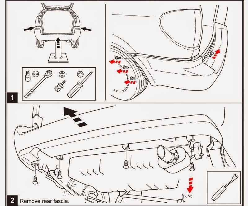 service manual  how to remove front bumper 1998 chrysler town country