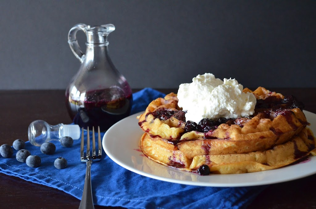 Blueberry Syrup & Freshly Whipped Cream