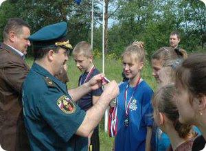 Торжественное закрытие региональных соревнований «Школа безопасности» и полевого лагеря «Юный спасатель»