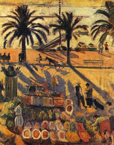 Jean Puy - Le marché de Sanary