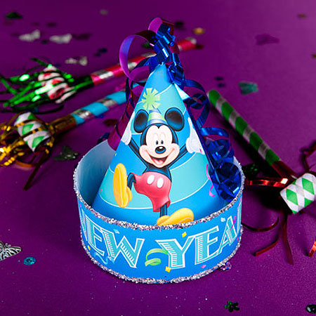 2012 Mickey's New Year Celebration Hat Papercraft