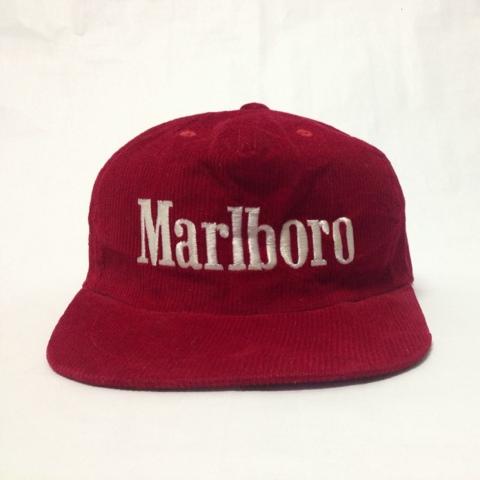 Dssolve Vintage Class  VINTAGE CORDUROY MARLBORO SNAPBACK HAT ed4cd517b55