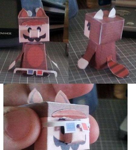 Tanooki Mario Paper Toy