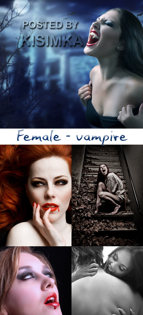 Stock Photo: Female - vampire