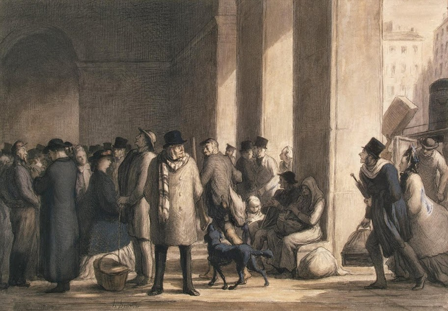 Honoré Daumier - At the Gare Saint-Lazare
