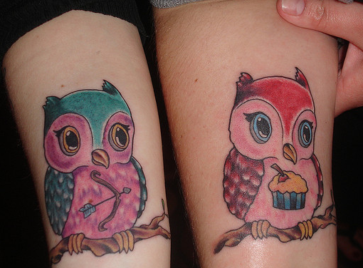 Cute baby owl tattoo for Cute baby tattoos