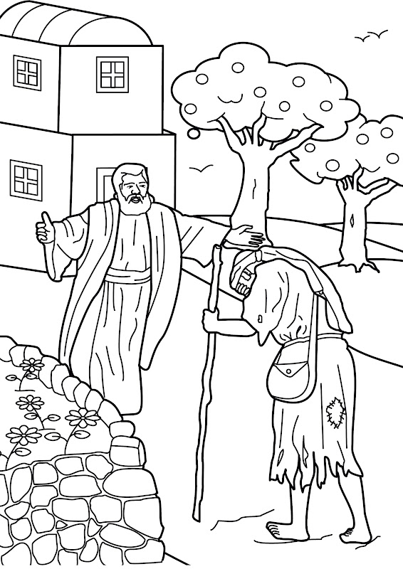 The prodigal son coloring pages