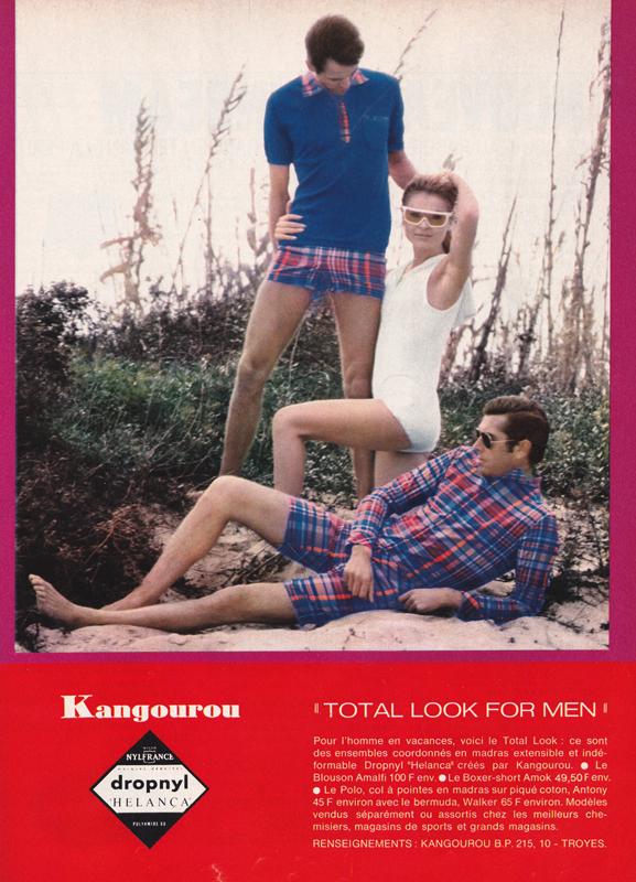Publicité vintage : Kangourou : Total look for men - Pour vous Madame, pour vous Monsieur, des publicités, illustrations et rédactionnels choisis avec amour dans des publications des années 50, 60 et 70. Popcards Factory vous offre des divertissements de qualité. Vous pouvez également nous retrouver sur www.popcards.fr et www.filmfix.fr