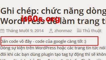 Cách nhúng quảng cáo vào bài viết Wordpress đơn giản 5