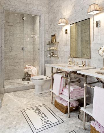 Kelly Wearstler Imperial Trellis Wallpaper Bathroom Tile
