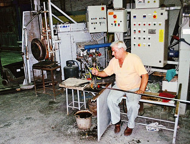glass-maker at work