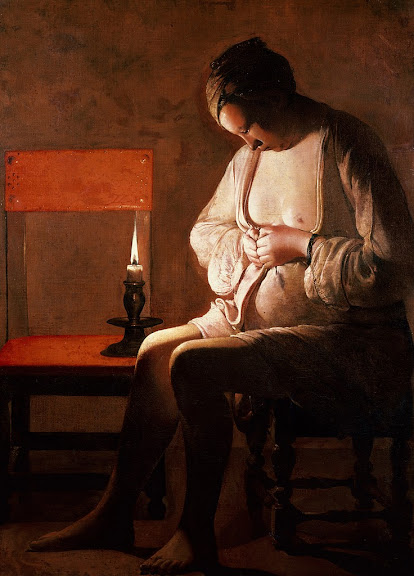Georges de La Tour - Woman Catching Fleas