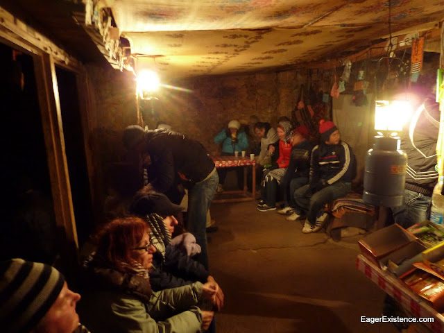 resting in a hut on the climb, mt. sinai