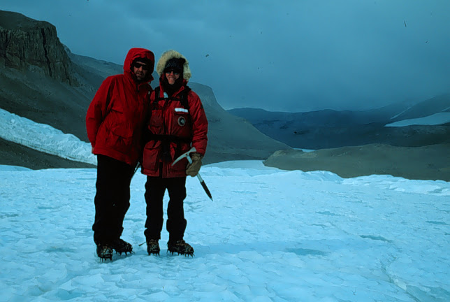 John Priscu and Barb Vaughn on the Taylor Glacier, 1999-2000 season.