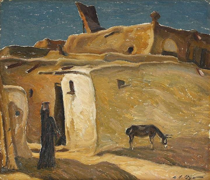 Leon Biju - Scenă din Assuan