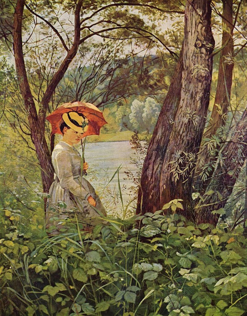 Hans Thoma - In the sunshine (1867)