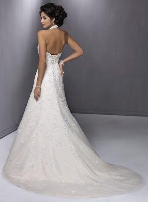 lace halter wedding dresses