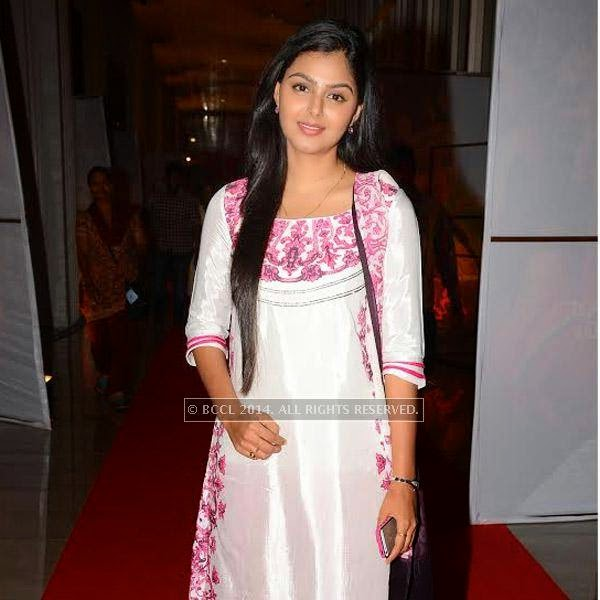 Monal Gajjar during a filmi event, held in Hyderabad.